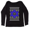 Jewish Star Of David Ugly Hanukkha Slouchy Off Shoulder Sweatshirt