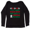 I Just Want to Bake Stuff And Watch Christmas Movies Slouchy Off Shoulder Oversized Sweatshirt