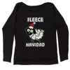 Sheep Fleece Navidad Ugly Christmas Slouchy Off Shoulder Oversized Sweatshirt