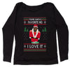 You're Santas Favorite Ho Ugly Christmas Slouchy Off Shoulder Oversized Sweatshirt