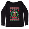 Kith Me Under The Mitheltoe Tyson Ugly Christmas Slouchy Off Shoulder Sweatshirt