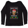 Jingle Bell Rock Ugly Christmas Slouchy Off Shoulder Sweatshirt