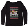 Friends Christmas Drinking Party Ugly Christmas Slouchy Off Shoulder Sweatshirt