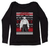 Let's Get Strange Ugly Christmas Slouchy Off Shoulder Sweatshirt