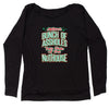 Jolliest Bunch Of A-sholes Slouchy Off Shoulder Oversized Sweatshirt