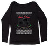 Happy Holidays from Dunder Mifflin Ugly Christmas Slouchy Off Shoulder Sweatshirt