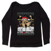Home Malone Ugly Christmas Slouchy Off Shoulder Sweatshirt
