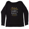 Christmas Is Too Sparkly, Said No One Ever Slouchy Off Shoulder Sweatshirt