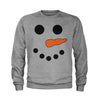 Snowman Smiling Face With Carrot Youth-Sized Crewneck Sweatshirt