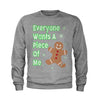 Everyone Wants A Piece Of Me Gingerbread Youth-Sized Crewneck Sweatshirt