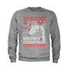 (Color) Meowy Christmas Ugly Christmas Holiday  Youth-Sized Crewneck Sweatshirt