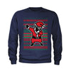 Dabbing Santa Ugly Christmas Youth-Sized Crewneck Sweatshirt