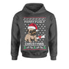 Merry Pugly Christmas Ugly Christmas Youth-Sized Hoodie