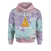 Pizza On Earth Christmas Tree Tie-Dye Youth-Sized Hoodie
