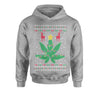 Weed 420 Get Lit Ugly Christmas Youth-Sized Hoodie
