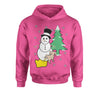 Snowman With Dog Peeing Ugly Christmas Youth-Sized Hoodie