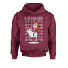 Ho Ho Ho Santa Riding A Unicorn Ugly Christmas Youth-Sized Hoodie