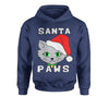 Santa Paws Cat Kitten Ugly Christmas  Youth-Sized Hoodie