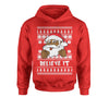 Believe It! Black Santa Claus Ugly Christmas Youth-Sized Hoodie