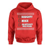 Naughty, Nice, An Attempt Was Made Christmas Holiday Youth-Sized Hoodie