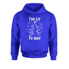 Too Lit To Quit Christmas Tree Youth-Sized Hoodie