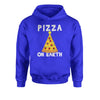 Pizza On Earth Christmas Tree Youth-Sized Hoodie