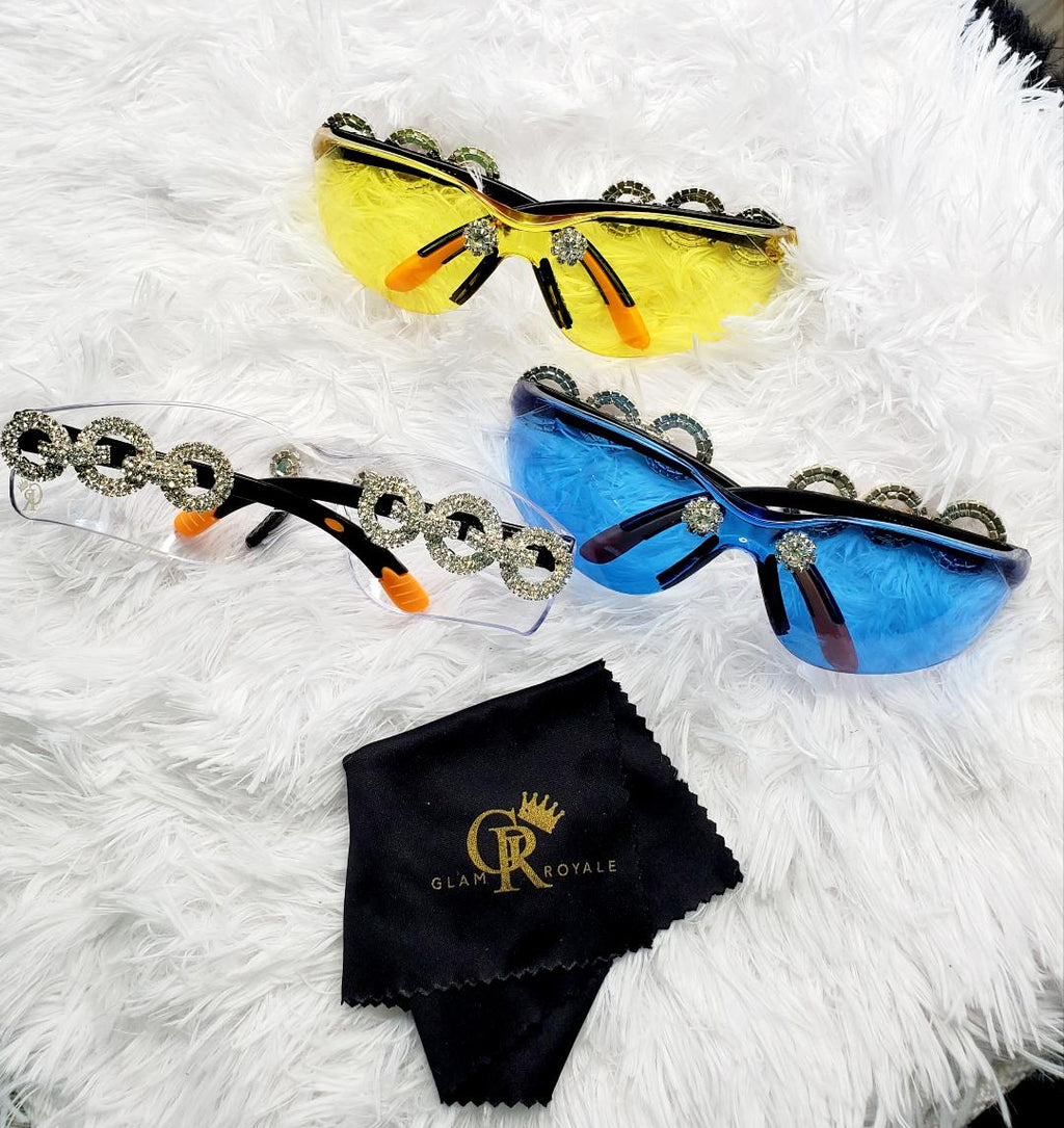 Circle Blinged Goggles