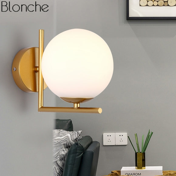 Led Wall Sconce Mirror Light Modern Glass Ball Fixture Industrial Lamp