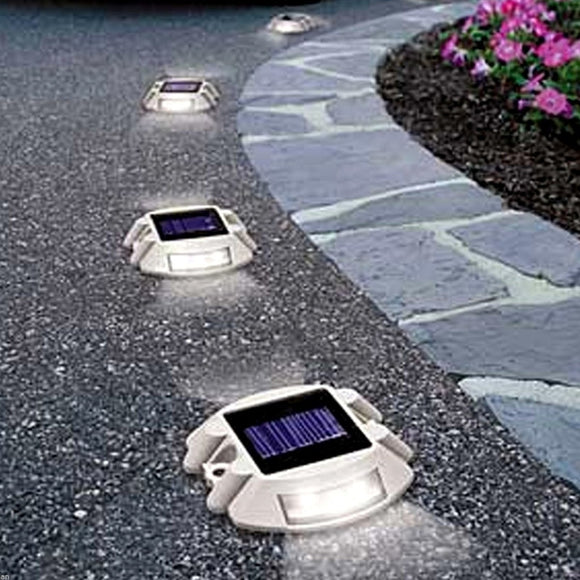 Wall Pathway Lamp For Driveways Outdoor 6 LED Waterproof Solar Light