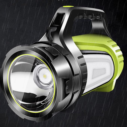 Big Side Light Torches Light Hand Lantern High Powerful USB Searching LED Flashlight