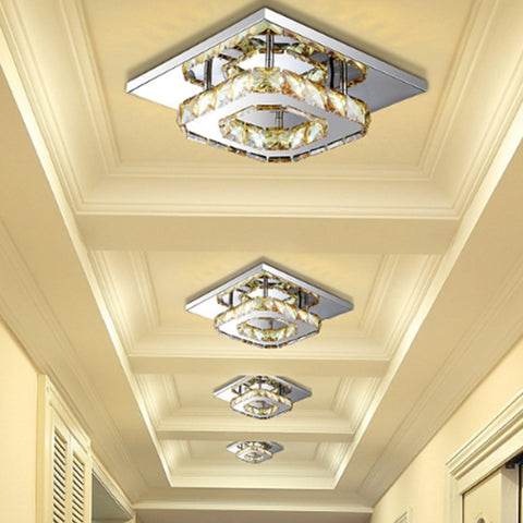 Crystal Lighting Modern LED Ceiling Lamp For Living Dining Bed Room Ceiling Lights