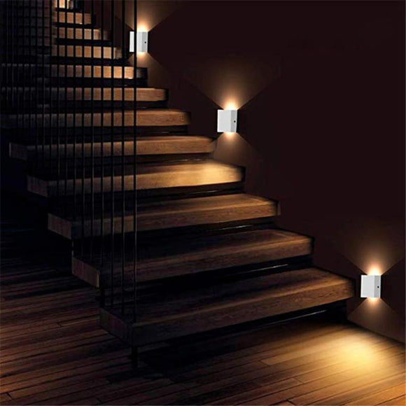 Waterproof Corridor Aisle Hotel Villa Outdoor Corridor Stairs Step Square Wall Lighting