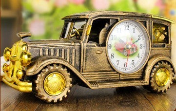 Retro Vintage Train Alarm Clock Classic Car Shape Alarm Clock