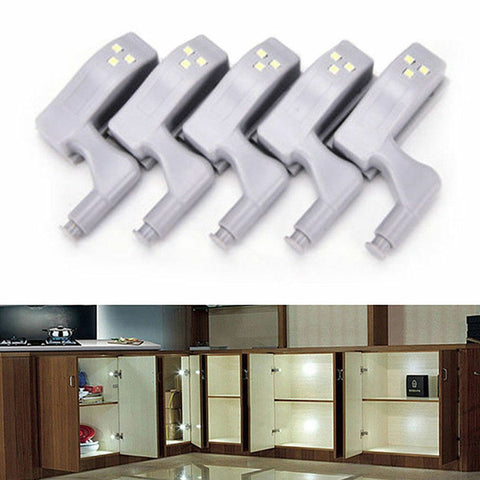 Inner Hinge Lamp Wardrobe Closet Night Light Home Kitchen 2/5/6/10/ LED Cabinet Light