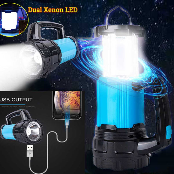 Portable Hanging Lamp LED Solar Power USB Port Lantern Flashlight