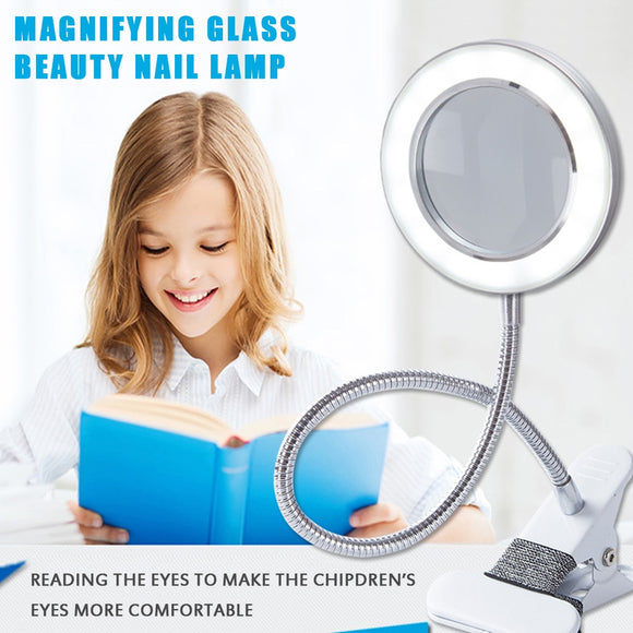 Clip Desk Lamp Eye Protection Reading Led Multifunctional Magnifying Glass Desk Lamp
