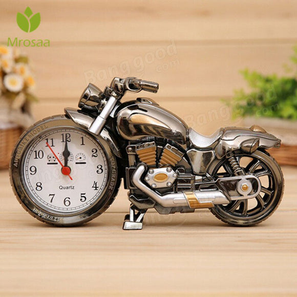 Retro Motorcycle Time display Table Desktop Clocks Random Color Alarm Clock