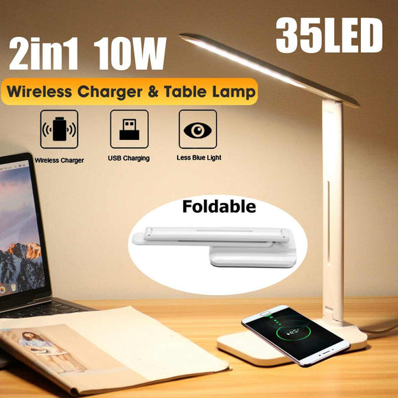 Adjustment Home Lighting Fast Charging Wireless Charger 10W Power Qi Wireless 2 in 1 Table Lamp