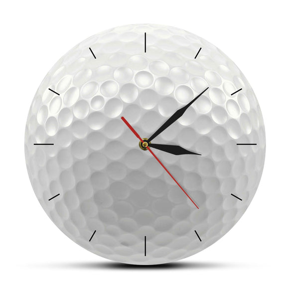 3D Vision Decorative Wall Watch Sports Golf Club Round Frameless Wall Clock