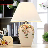 Romantic Creative Flowers Dimmer Desk Light Foyer Bedroom Fashion Table Lamp