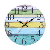 Wooden Rustic Large Arabic Numerals Wall Clock Antique Shabby Retro Wall Clock