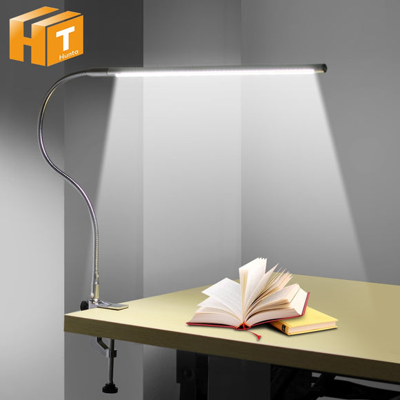 Clip Mounted Office USB Reading Light Long Arm Table Lamp