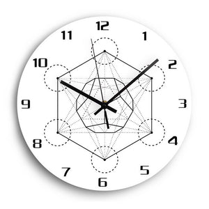 Quartz Movement Decorative 3D Hexagon Modern Design Wall Clock