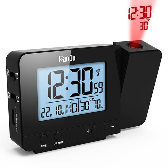 Rotatable Wake Up Projector Date Snooze Funtion Digital Alarm Clock