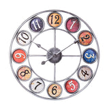 Iron Art Clock Wall Home Decor - Ferris WheelVintage Silver 60cm 24inches Wall Clock