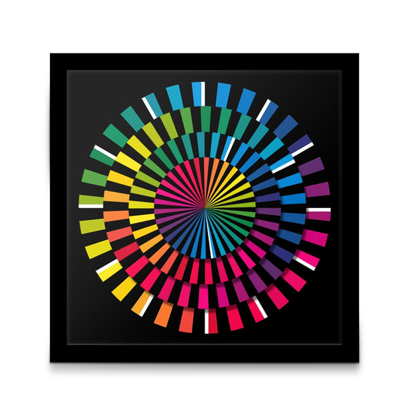 Colorful Spectrum Hexagon Hanging Silent Wall Clock