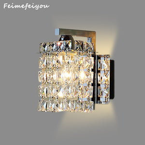Modern Crystal Lampshade LED Wall Lamp