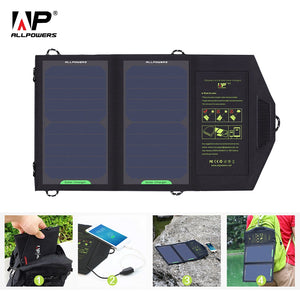 Solar Charger Portable Solar Battery Charging 10W 5V for Phone for Hiking  Camping Outdoors