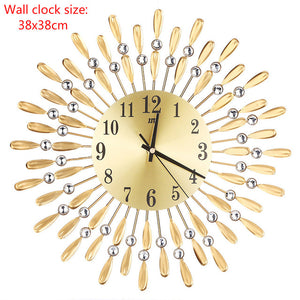 Crystal Modern Style Silent Decoration Single Face Wall Clock