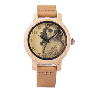 Photo Printing Customized Unique Wood Face Watches